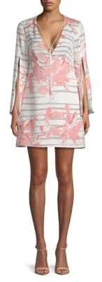 Halston Printed Mini Dress