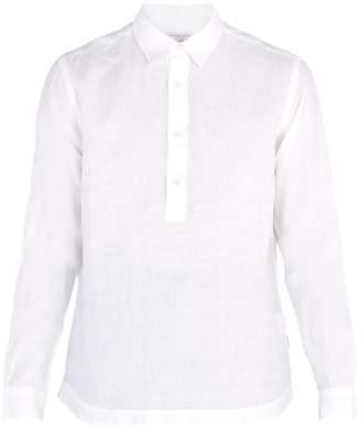 Orlebar Brown Ridley Riviera Point Collar Linen Shirt - Mens - White