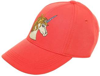 Mini Rodini Unicorn Embroidered Canvas Baseball Hat