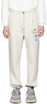 Alexander Wang White Platinum Trophy Lounge Pants