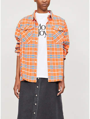 THE RAGGED PRIEST Wayward checked brushed-cotton jacket