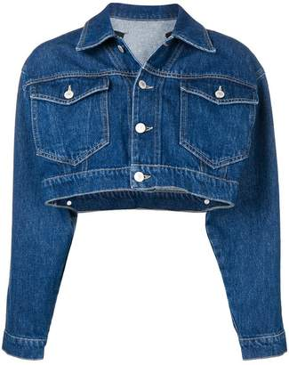 Chiara Ferragni cropped denim jacket