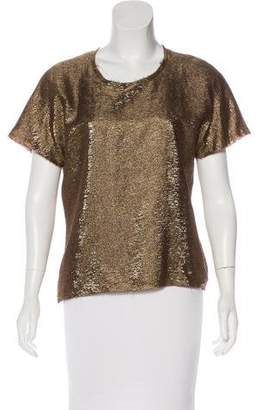 Lanvin Short Sleeve Embellished Top