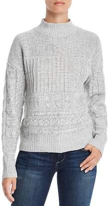 Aqua Cable-Knit Mock-Neck Sweater - 100% Exclusive