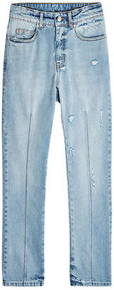 Alexander McQueen Distressed Jeans with High Waist