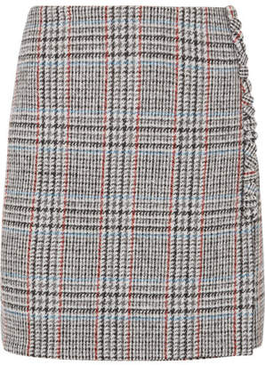 ADAM by Adam Lippes Wool-tweed Wrap Mini Skirt - Gray