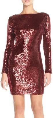 Dress the Population Embellished Sequin Back Zip Dress