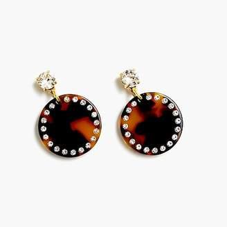 J.Crew Lucite disc drop earrings
