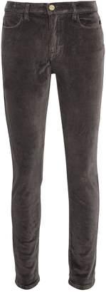 Frame Velvet High Skinny Charcoal Pants