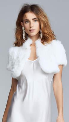 6a7a91e855 Jocelyn Felicity Rabbit Fur Shrug