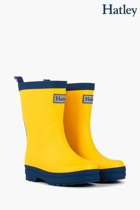 Hatley Boys Yellow Matte Rain Boots - Yellow