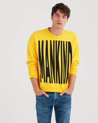 7 For All Mankind Mankind Regular Print Crewneck in Freesia