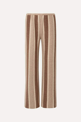 The Row Culotta Cashmere And Silk-blend Wide-leg Pants - Brown