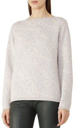 REISS Wesley Jaquard Sweater $220 thestylecure.com