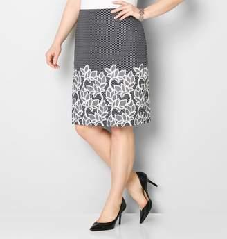 Avenue Puff Print Border Skirt