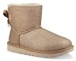 UGG Mini Bailey Bow Sparkle Dyed Shearling Boots