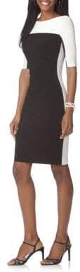 Chaps Two-Toned Jersey Dress