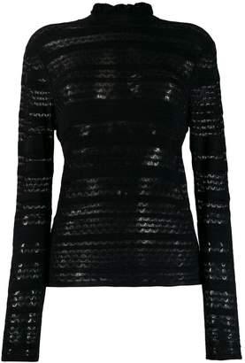 Chloé patterned knit turtleneck sweater