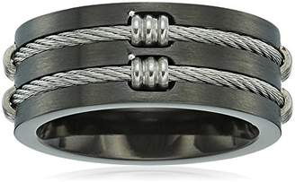 Men's Steeltime Ip Wire Inlay Ring