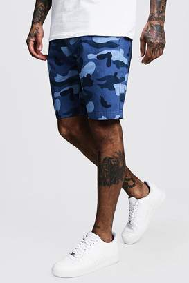 boohoo Slim Fit Cotton Camo Shorts