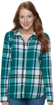 So Juniors' SO Pocket Plaid Flannel Shirt