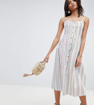 Reclaimed Vintage Inspired Stripe Button Through Sun Dress