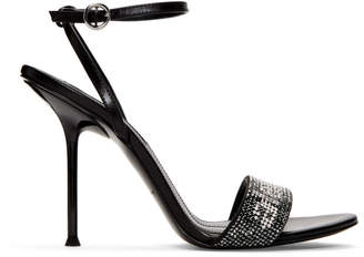 Alexander Wang Black Crystal Jane Sandals
