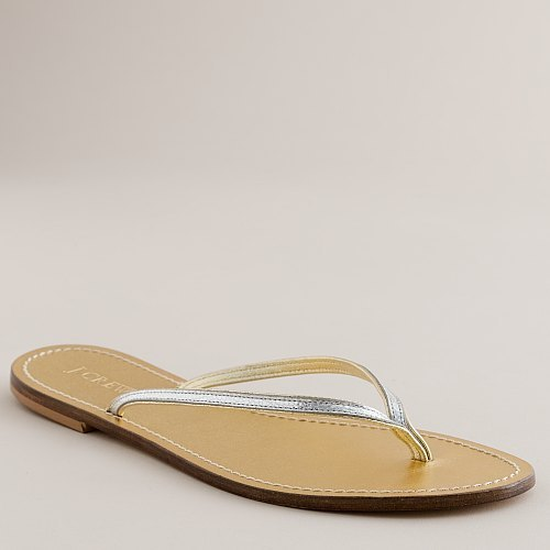 J.Crew Metallic tonal capri sandals