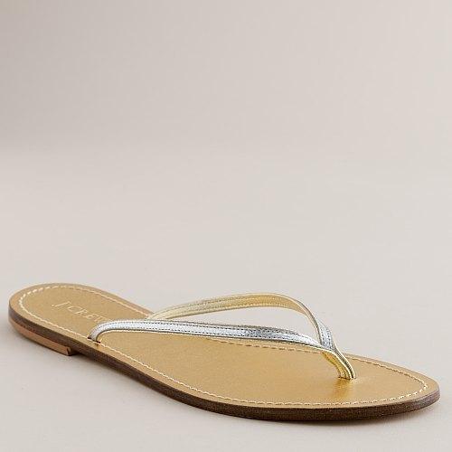 Metallic tonal capri sandals