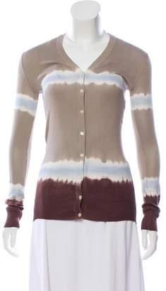 Dolce & Gabbana Tie-Dye Print Silk Cardigan