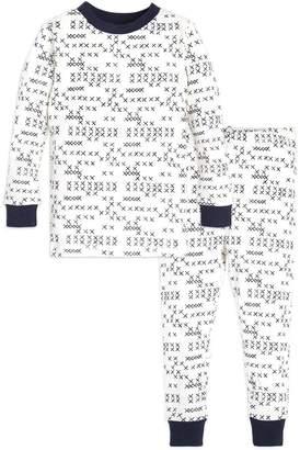 Burt's Bees Cross Stitched Organic Toddler Pajamas
