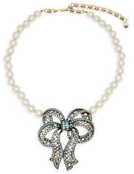 Heidi Daus 4.5MM White Akoya Pearl and Swarovski Crystal Necklace