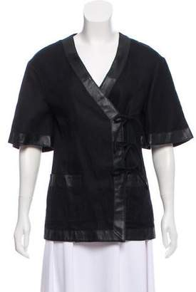 Raquel Allegra Short Sleeve Casual Jacket
