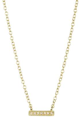 Meira T 14K Yellow Gold Bar Diamond Accented Necklace - 0.02 ctw