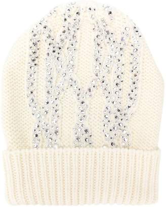 Ermanno Scervino knitted embellished hat