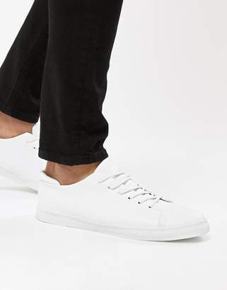 Asos DESIGN sneakers in white with toe cap