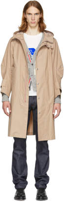 Thom Browne Beige Articulated Bal Collar Hooded Coat