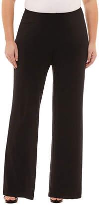 Liz Claiborne Wide Leg Pull-On Pants- Plus