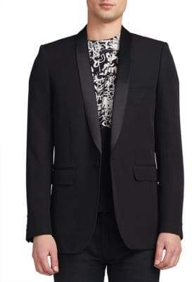 Saint Laurent Shawl-Collar Wool Blazer