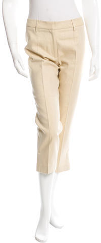 Dolce & GabbanaDolce & Gabbana Metallic Cropped Pants