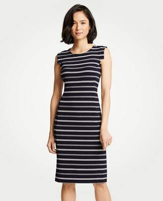 Ann Taylor Textured Stripe Sheath Dress