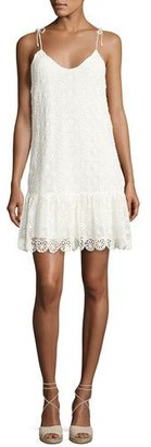 Ella Moss Medallion Crochet Lace Mini Dress, Neutral $228 thestylecure.com