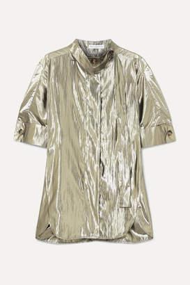 REJINA PYO Briana Lamé Shirt - Silver