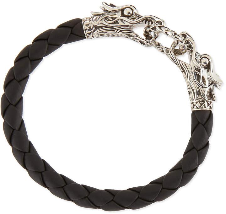 John Hardy Men's Legends Naga Leather Dragon Bracelet