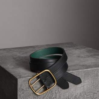 Burberry Double-strap Leather Belt , Size: 85, Black