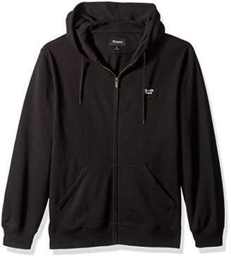 Brixton Men's Trig Relaxed Fit Zip Hooded Fleece Sweatshirt