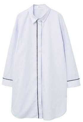 MANGO Embroidery long shirt