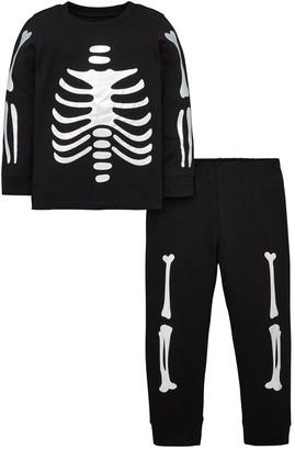 Very Foil Skeleton Pyjama Set - Black