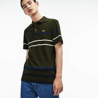 Lacoste Men's Regular Fit Thick Striped Cotton Polo