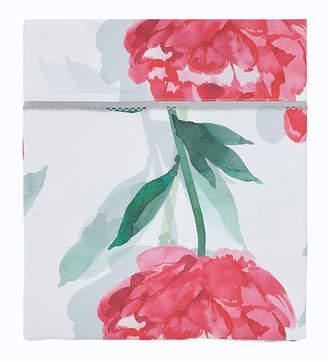 Claude Anne De Solene Leonie 200 Thread-Count Floral Queen Flat Sheet